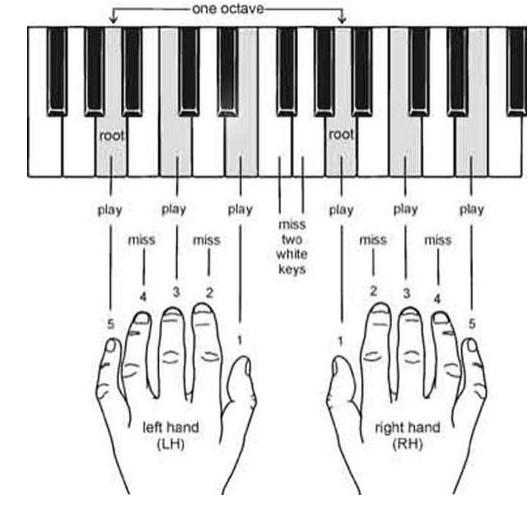 cách đặt tay trong piano - tự học piano tại nhà