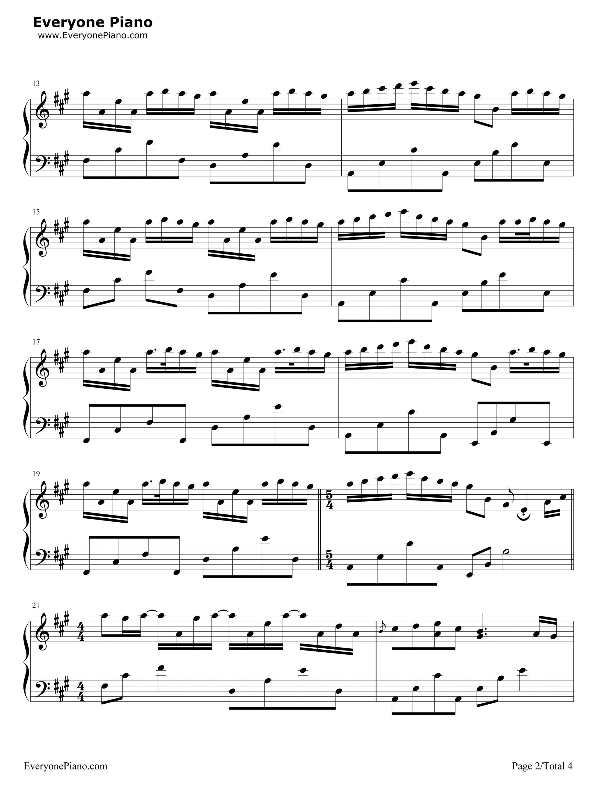 Sheet nhac river flow in you piano 02