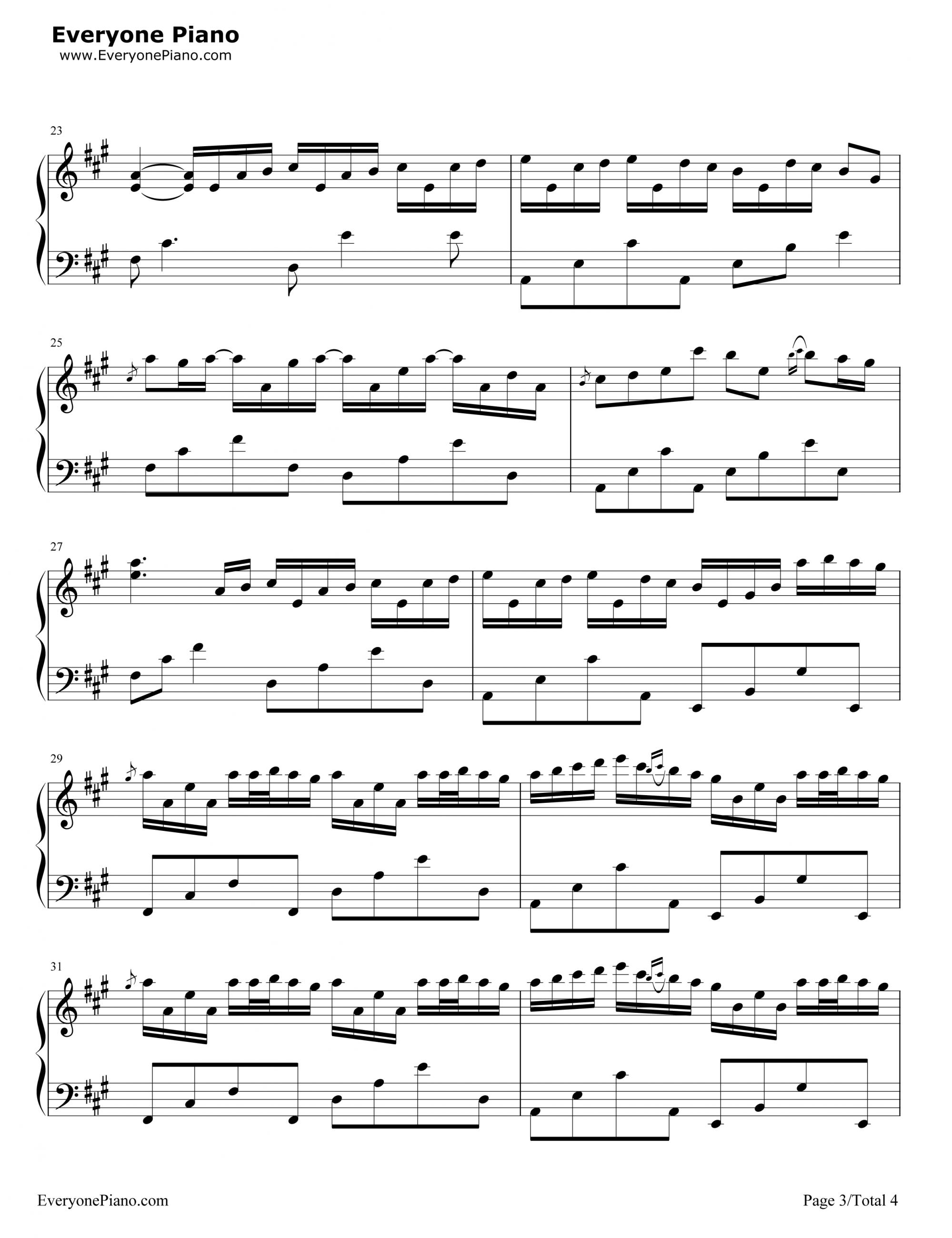 Sheet nhac river flow in you piano 03