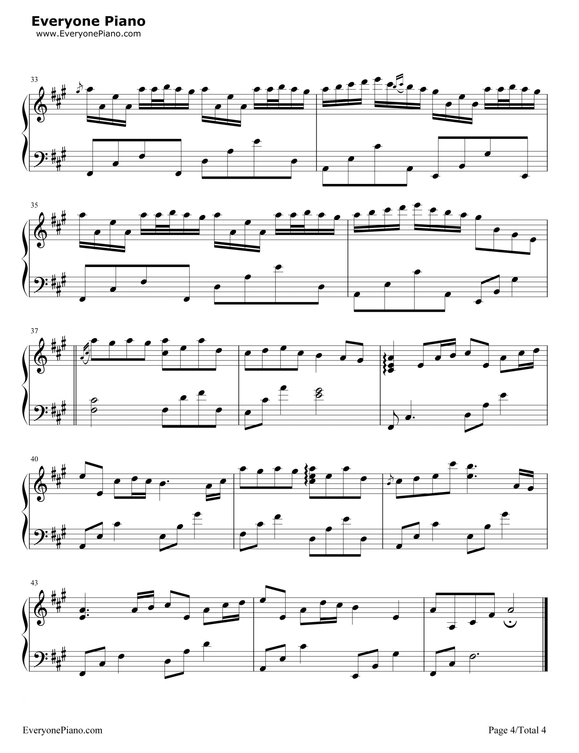 Sheet nhac river flow in you piano 04