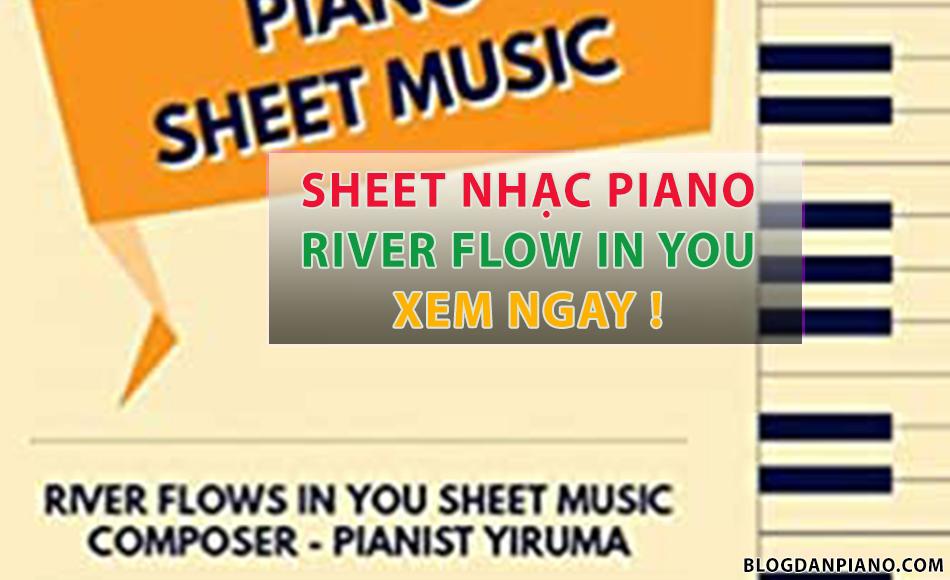 sheet nhạc River flow in you piano guitar